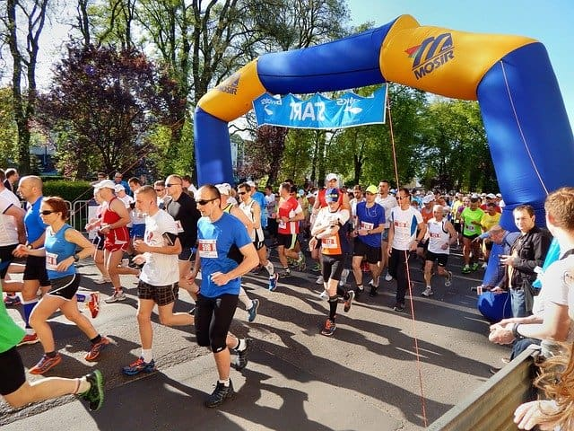 marathon startbogen