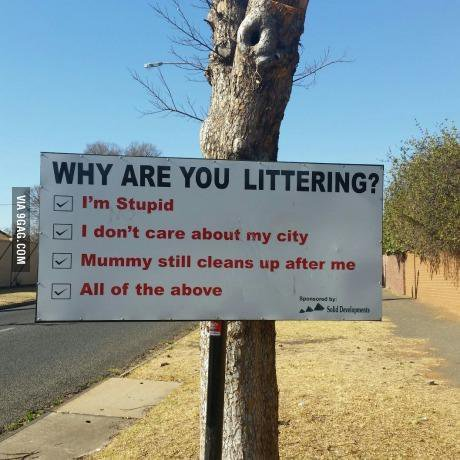 why are your littering
